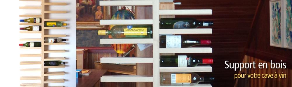 support boutielle de vin cave a vin